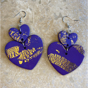 Hairy Yeti Heart Earrings