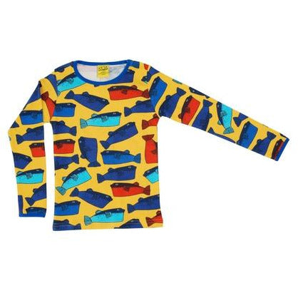 Duns Yellow Fugo Long Sleeve Top (adults)