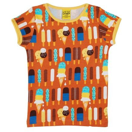 Duns Pumpkin Ice Cream Short Sleeve T Shirt (kids)