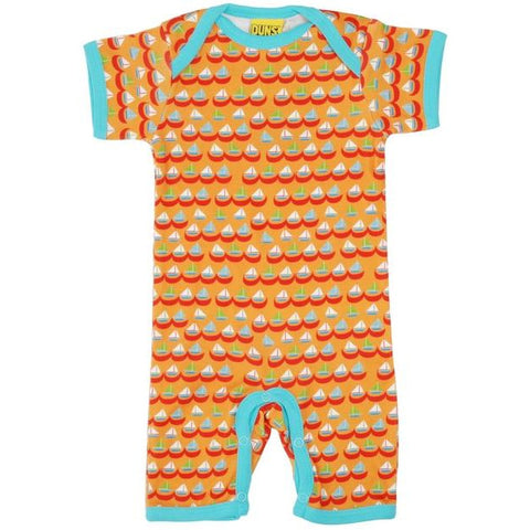 DUNS Sweden Orange Sailing Boats Summer Suit