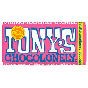 Tony's Chocolonely - White Raspberry Popping Candy 180g