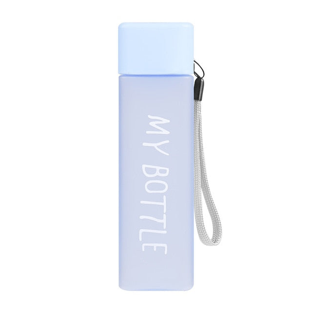 Square Plastic Water Bottles to drink 500ml bottle
