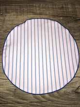 Load image into Gallery viewer, Pink | Blue Striped Yacht Edition pocket-round w/ Royal Blue trim