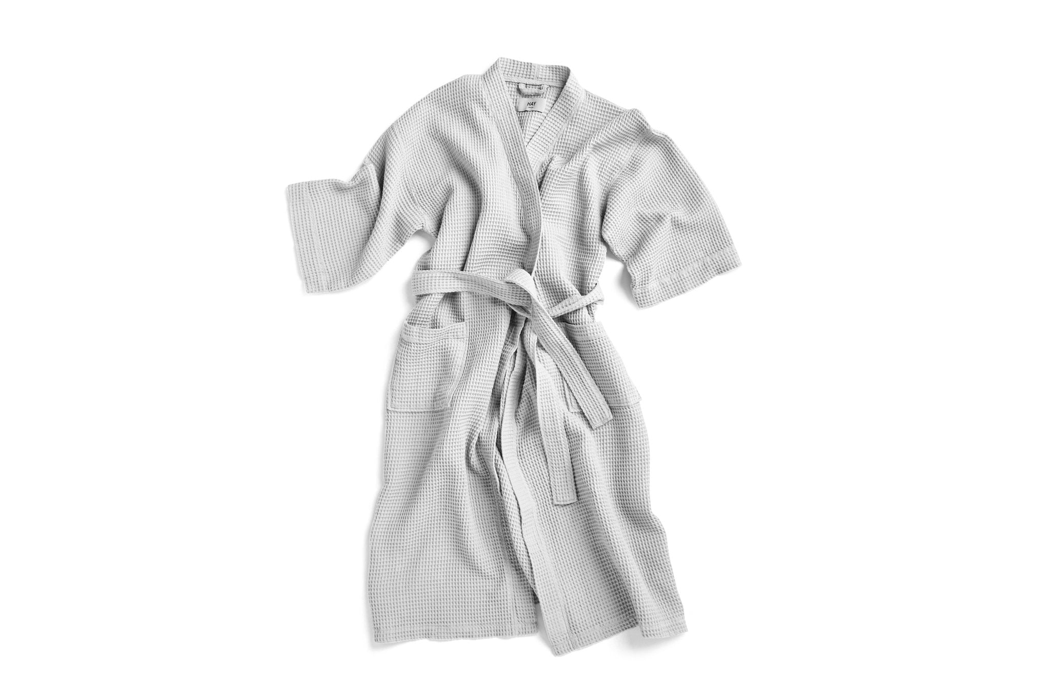 Waffle Bathrobe in Grey