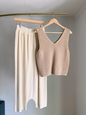 Relaxed Knit Top in Nougat