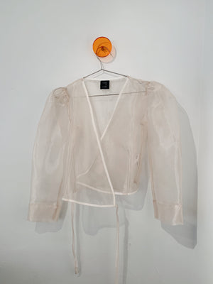 Arno Top in Oatmeal Organza