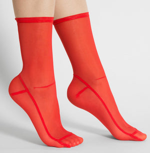 Spicy Red Mesh Socks