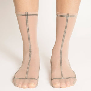 Tri-Cream Mesh Socks