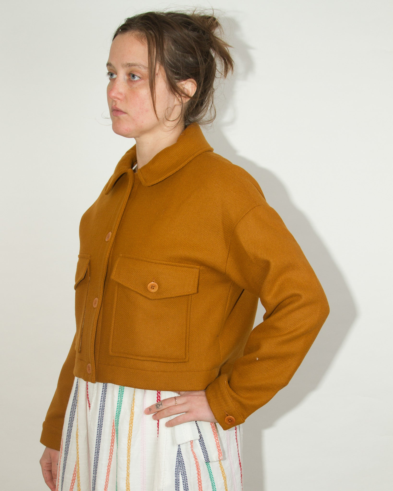 Wool Jacket in Ochre