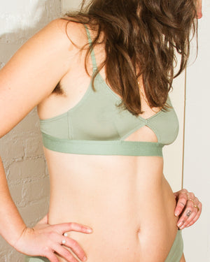 Cut Out Bra in Thin Strap in Mint