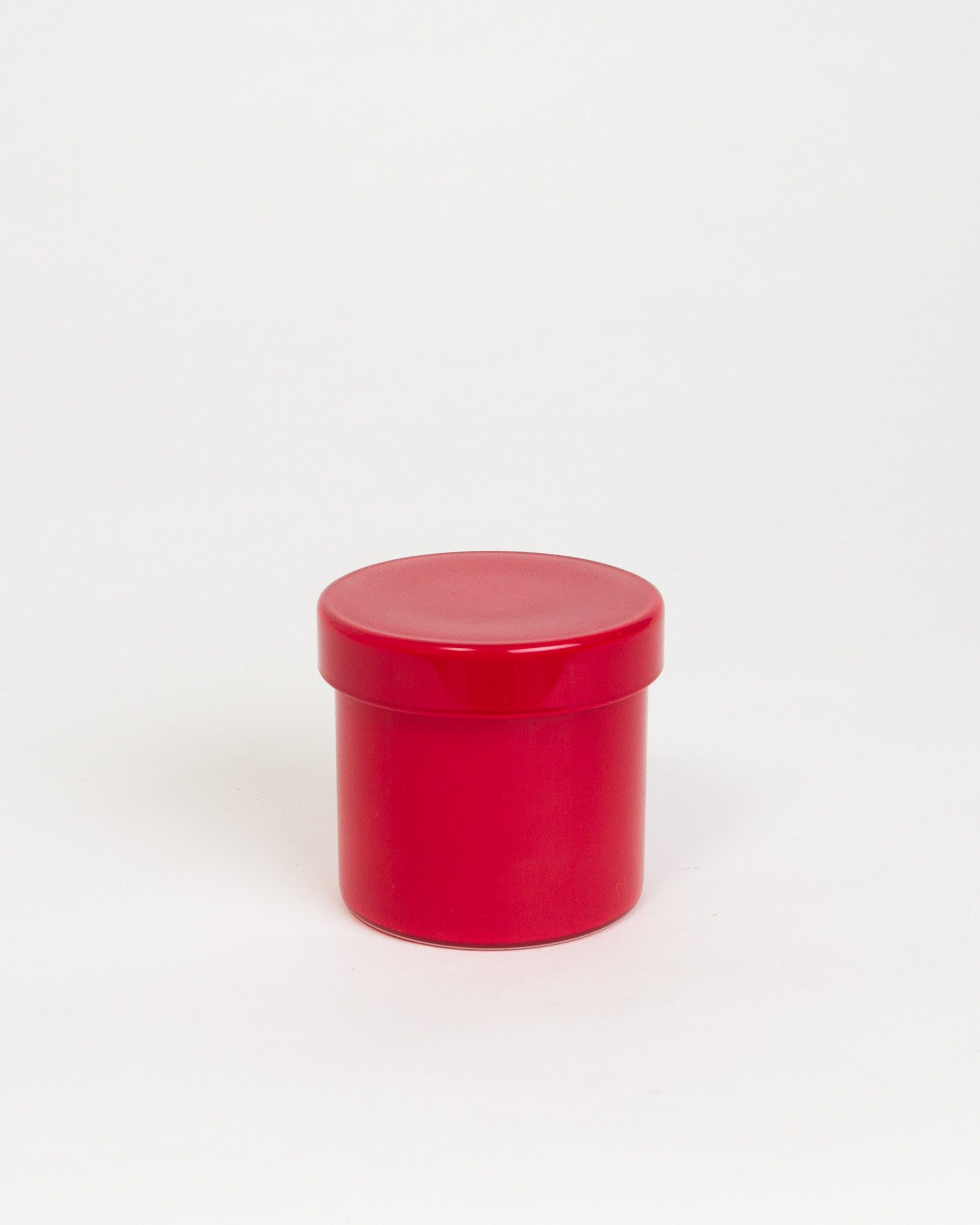 Red Glass Container