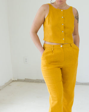 Colombine Top in Ochre