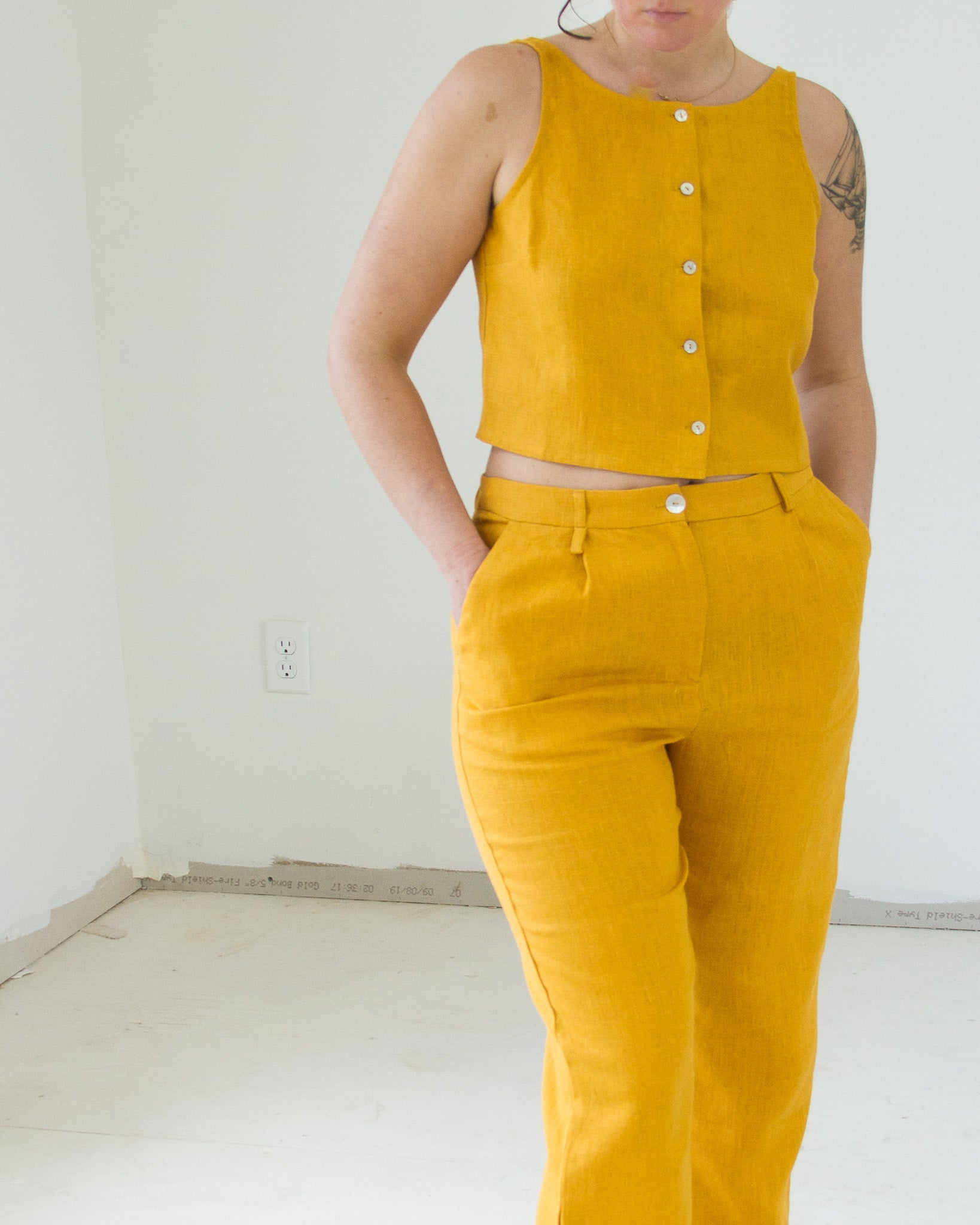 Shanghai Trousers in Ochre