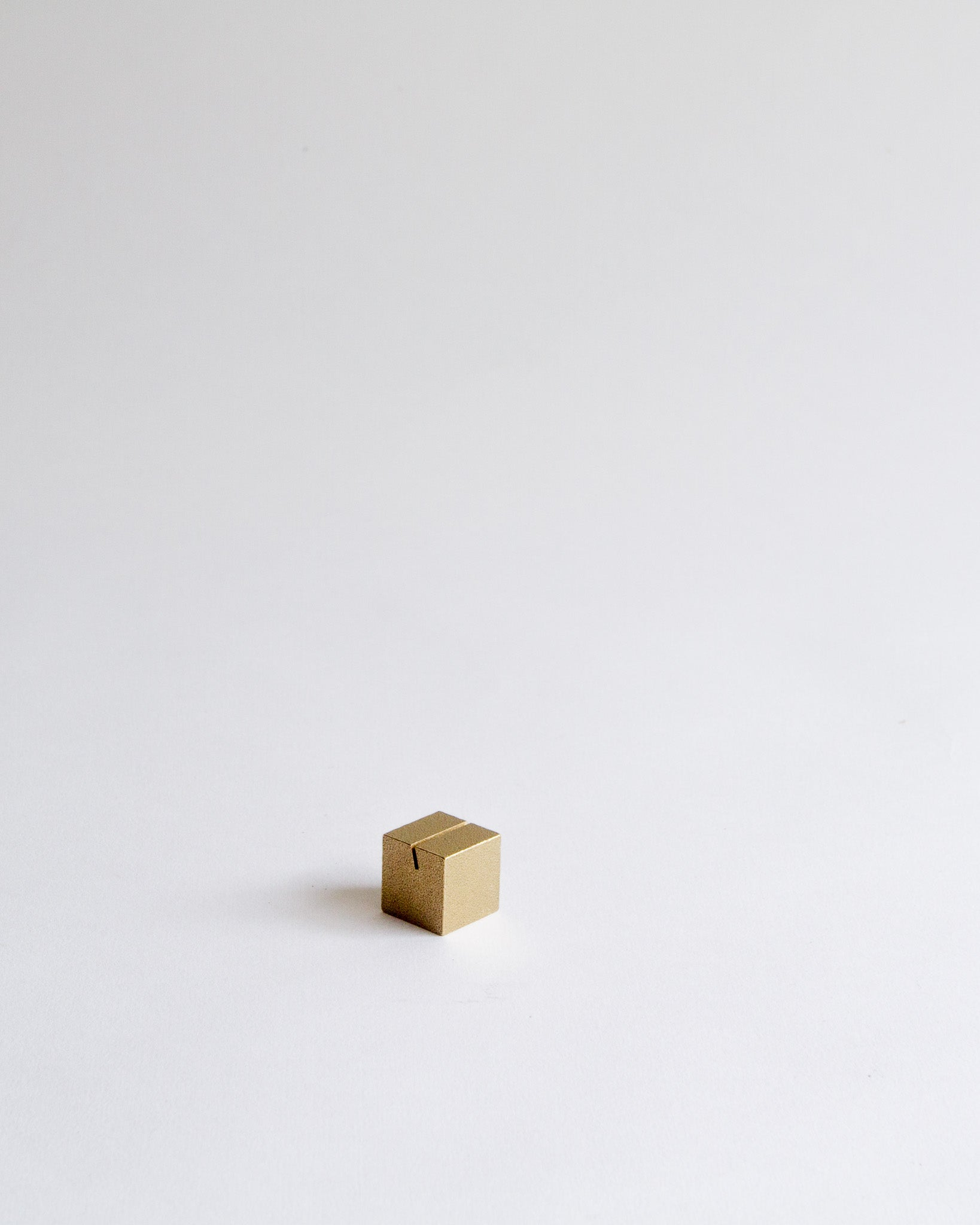Cube Card Holder (Brass)