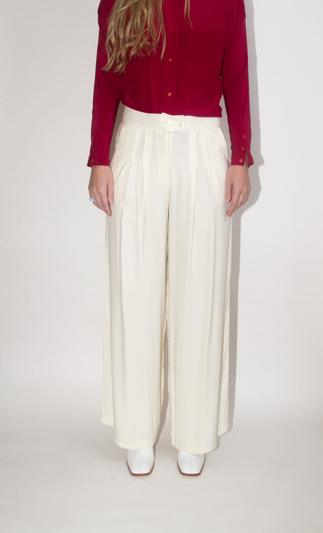 Pleated Pant in Clay