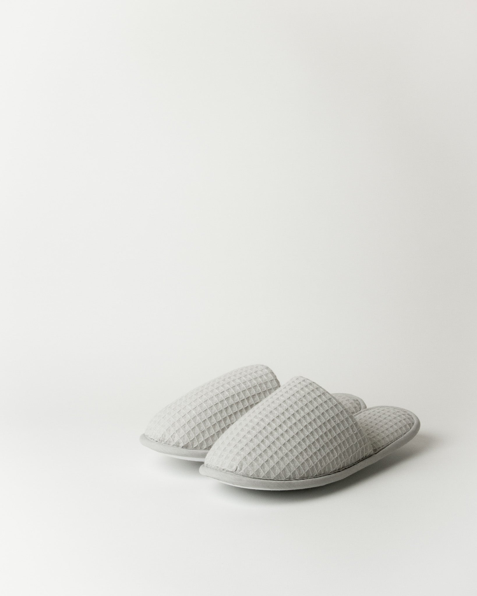 Waffle Slippers in Grey