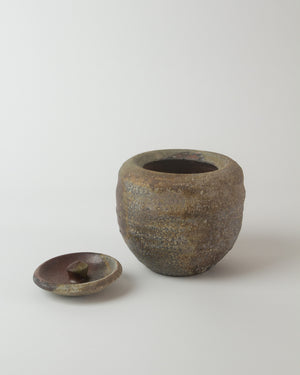 Wood-fired Ceramic Jar with Lid