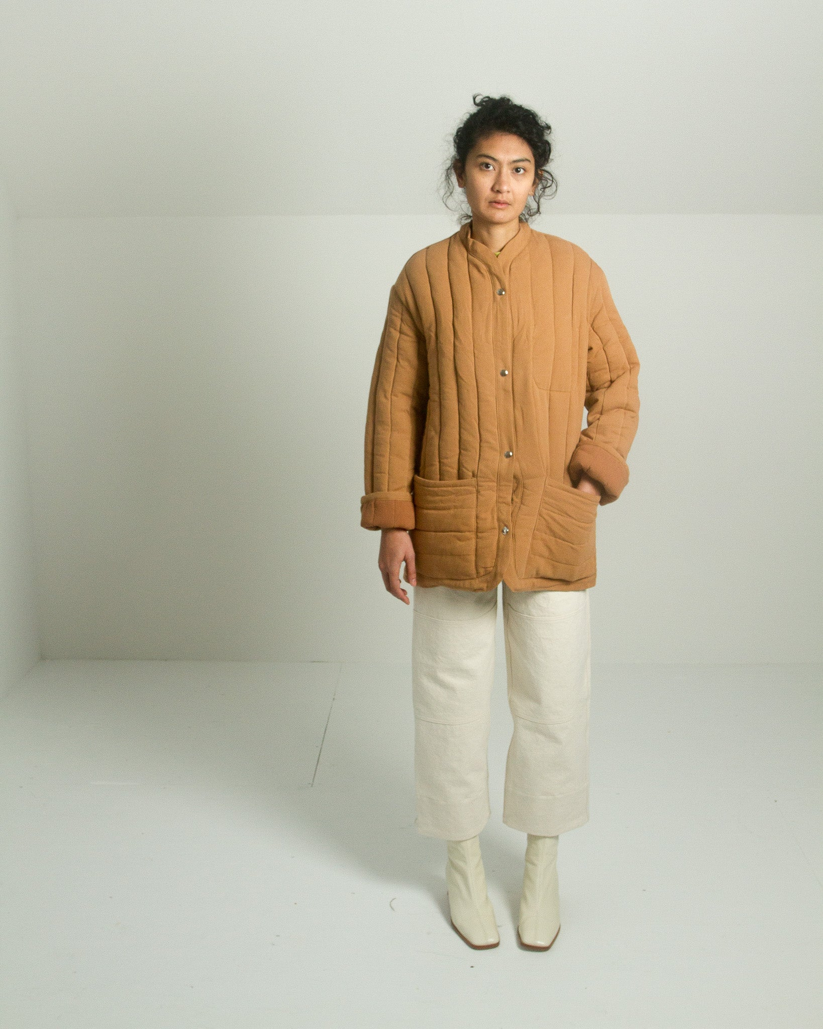 Kordal Sawyer Quilted Jacket in Clay