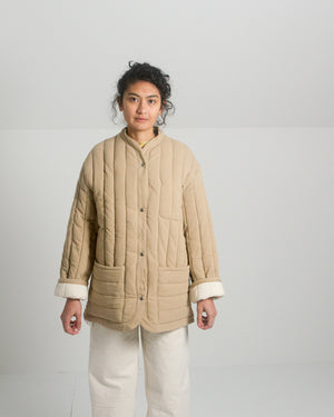 Kordal Sawyer Quilted Jacket in Sand