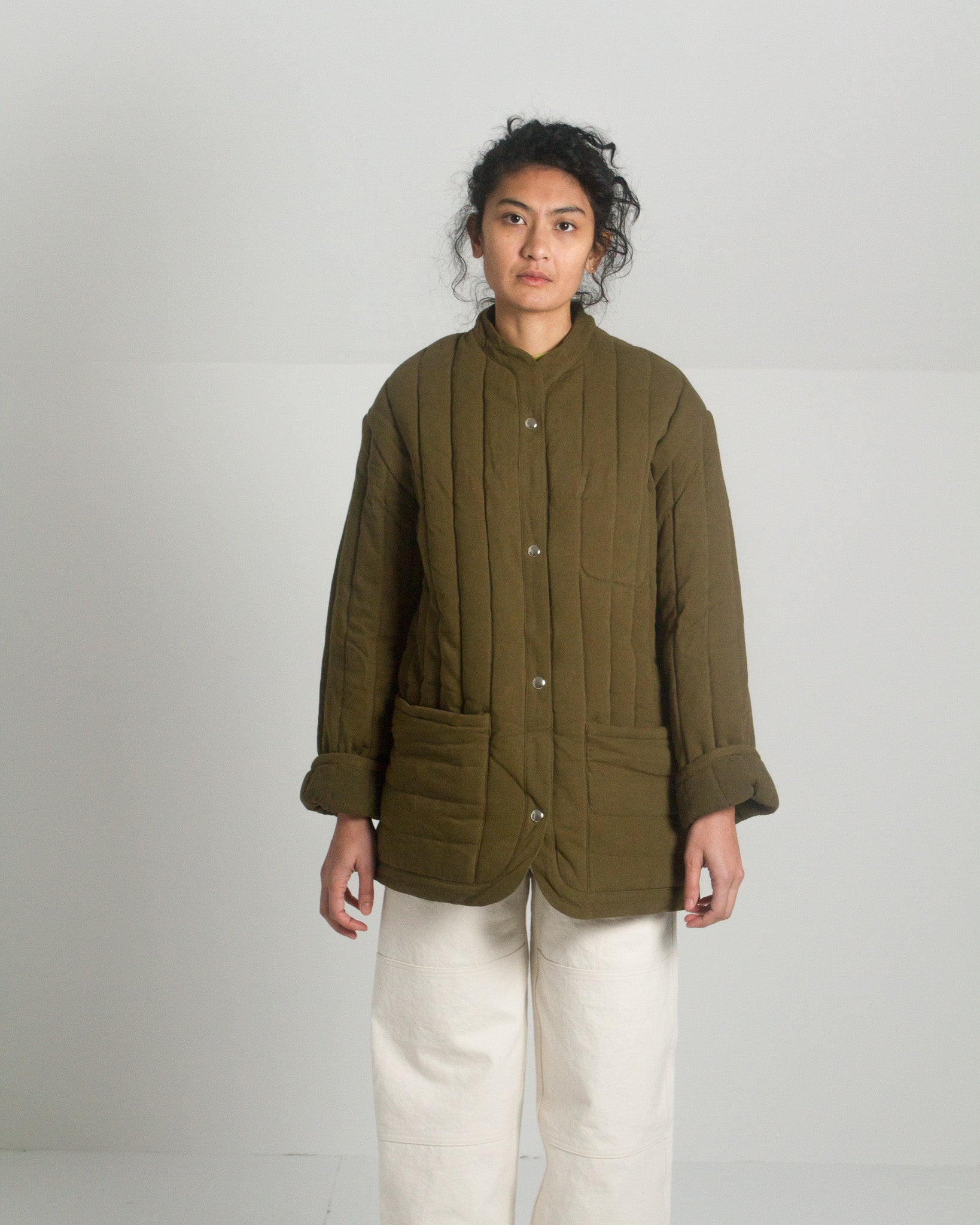 Kordal Sawyer Quilted Jacket in Olive