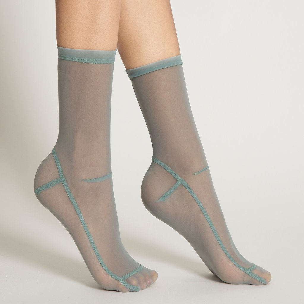 Powder Blue Mesh Socks