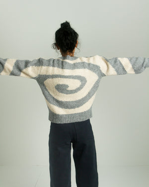 Twister sweater in Grey