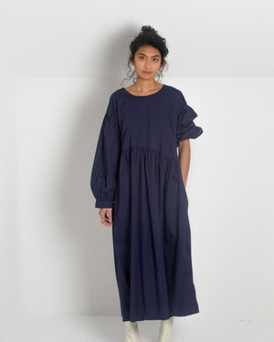 Jayme Dress in Navy Poplin