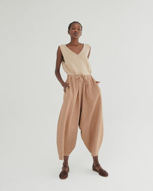Maxie Ramie Pant in Clay Pot