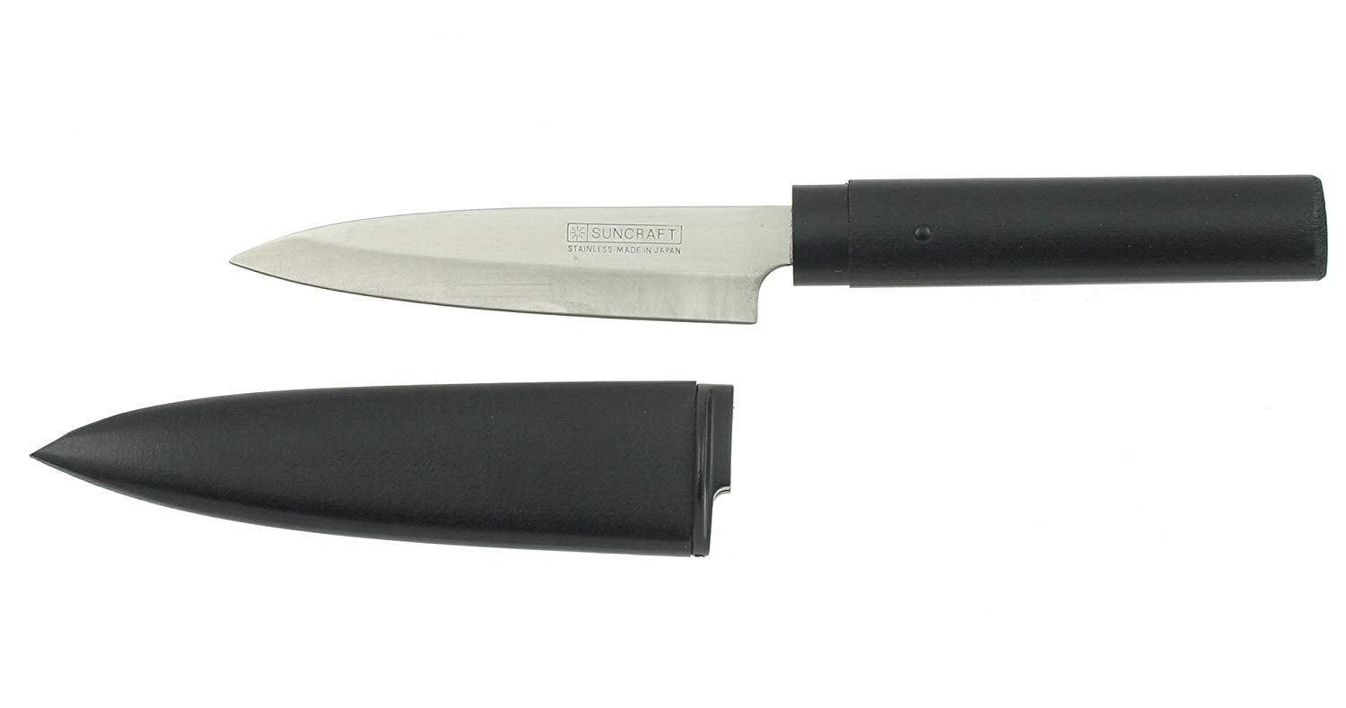 Kotobuki Picnic Knife with Sheath Black Wood