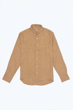 Alex Crane Playa Button Up in Gold