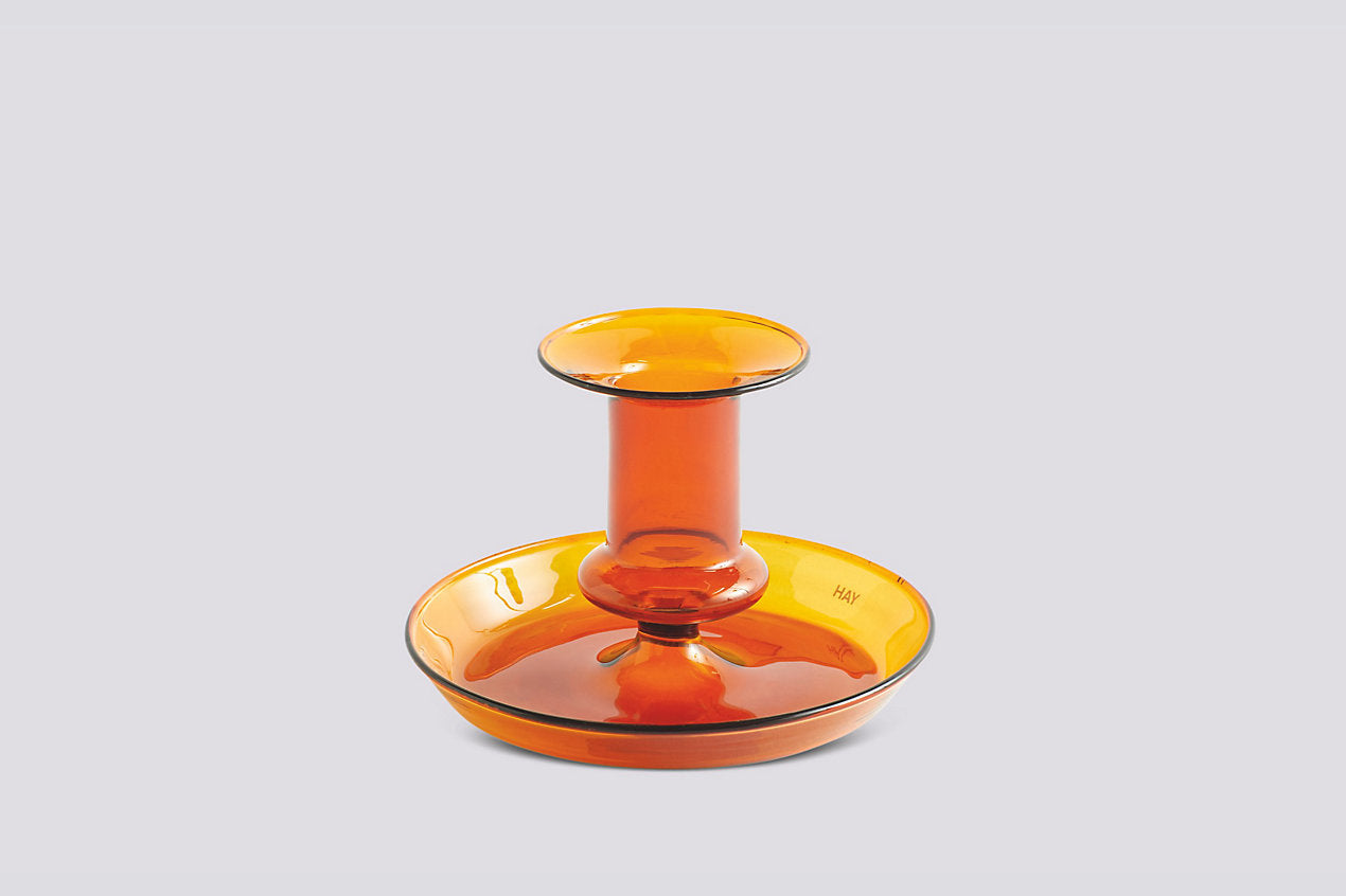 Flare Candleholder in Amber