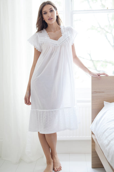 Cottonreal Lex Cotton Lawn Cap Sleeve Nightdress