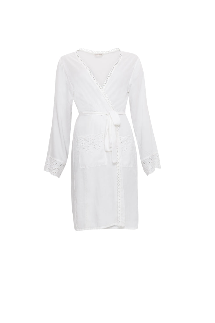 Cyberjammies Woven Modal Long Sleeve Short Robe