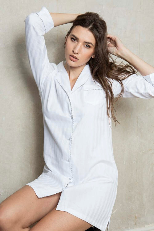 Cottonreal Shadow Stripe Nightshirt
