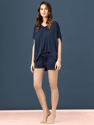 Vanilla night & day Oversize Tee Short Pyjama Set