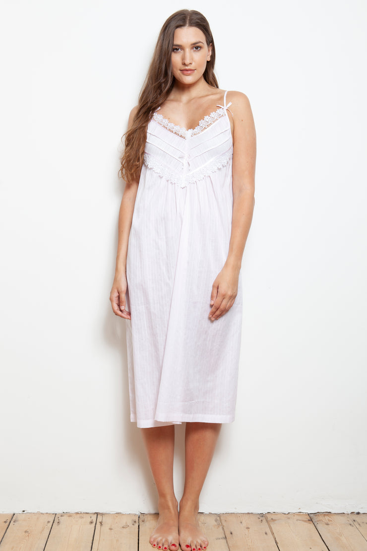 Cottonreal Mada Cotton Lawn Strappy Nightdress
