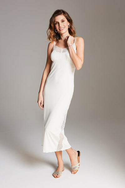 Vanilla night & day Midi Nightdress - Ivory