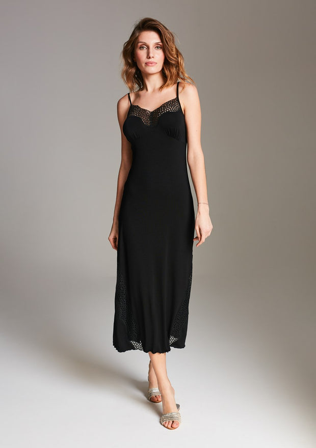 Vanilla night & day Midi Nightdress - Black