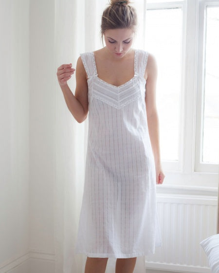 Cottonreal Willow Cotton Lawn Strappy Nightdress