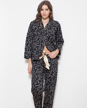 Cottonreal Antique Noir Cotton Poplin Pyjama Set