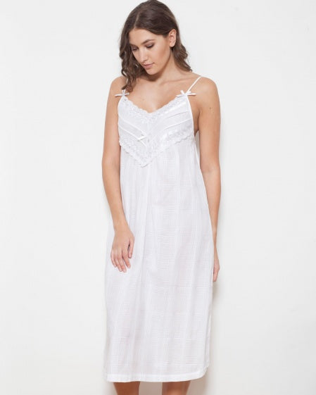 Cottonreal Nadine Cotton Lawn Strappy Nightdress