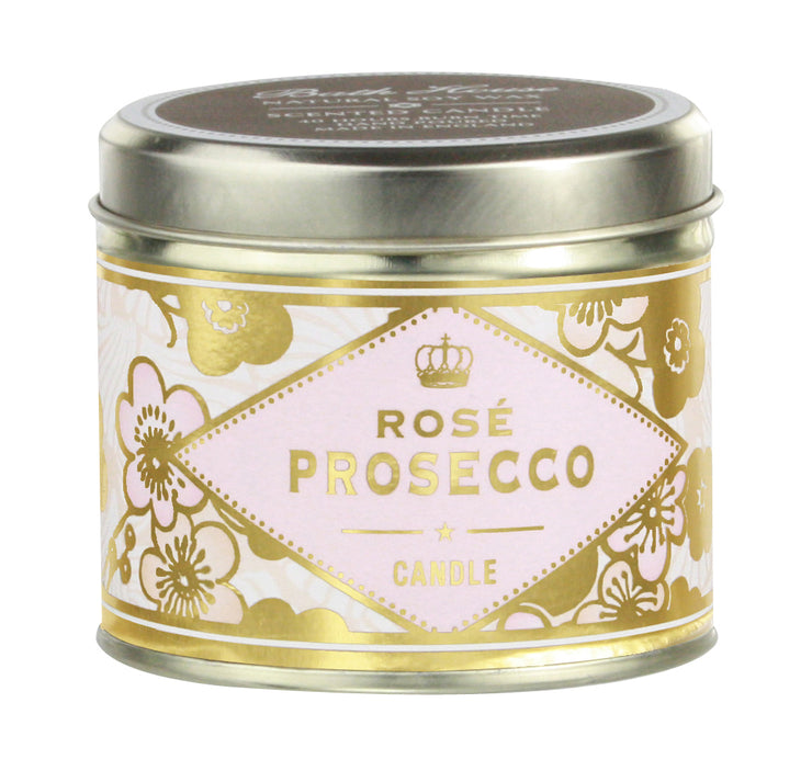 Bath House Rose Prosecco Scented Candle