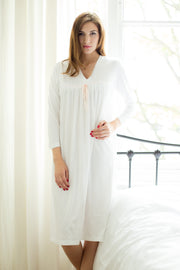 Cottonreal Tammy Combed Cotton Jersey 3/4 Sleeve Nightdress