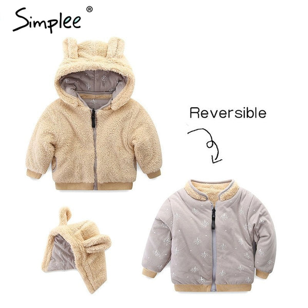 Baby Girl Hooded Fur Jackets