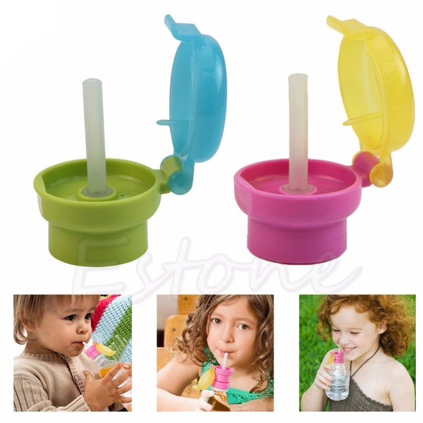 Easy Portable No Spill Choke Water Bottle Adapter Cap With Tube Drinking Straw