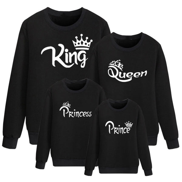 Father/Mother/Child Pullover King Queen Prince & Princess