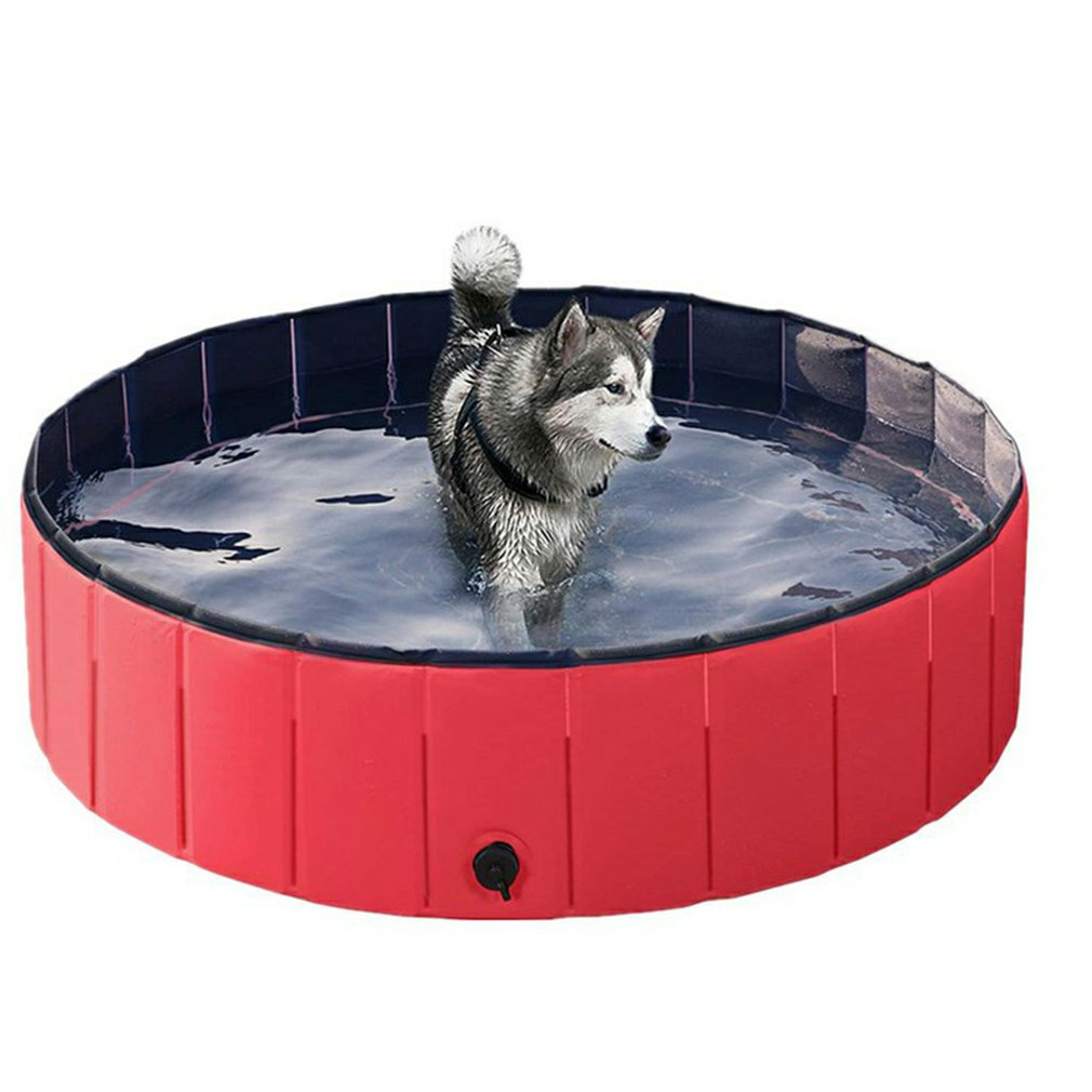 Pet Foldable Portable Bathtub & Mini Pool PVC Waterproof for Indoor Outdoor Use
