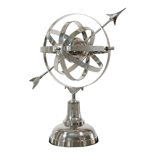 Aluminum Decorative Armillary Accent | Home Decor Sculpture (DH4032)