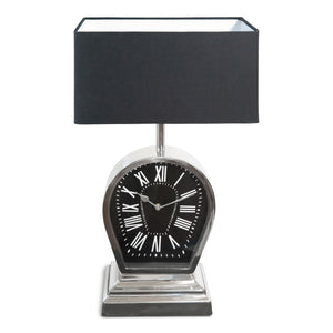 Decorative Stainless Steel and Aluminum Table Lamp With Clock (DH10003)