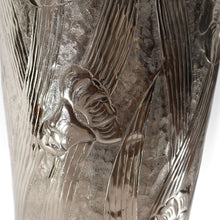 Load image into Gallery viewer, Modern Tall Aluminum Flower Vase Embossed Leaf Flower Design (DH3035)